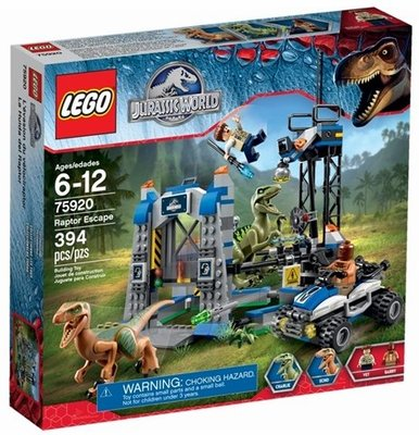 全新現貨 75920 LEGO Jurassic World Raptor Escape