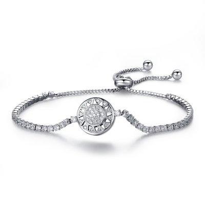 歐美式鍍白金時尚首飾銷售滿天星太陽女士手鍊微鑲鋯石N965