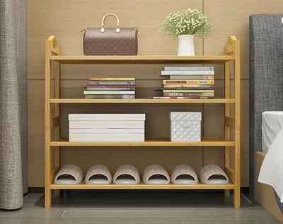 竹木實板鞋架多層簡易家用防塵鞋櫃客廳經濟型簡約現代組裝收納架Y-優思思
