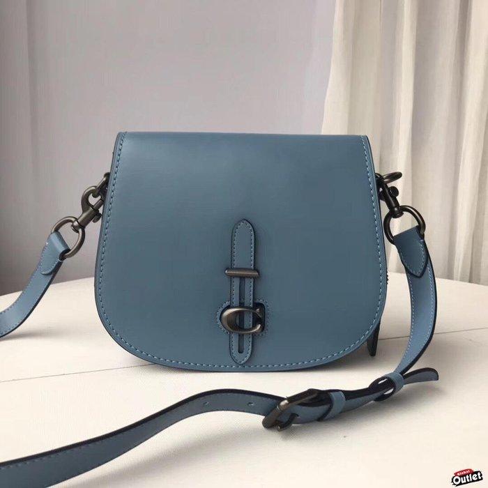 【全球購.COM】COACH 54202 新款女士全皮插口設計馬鞍包 斜跨包 美國代購