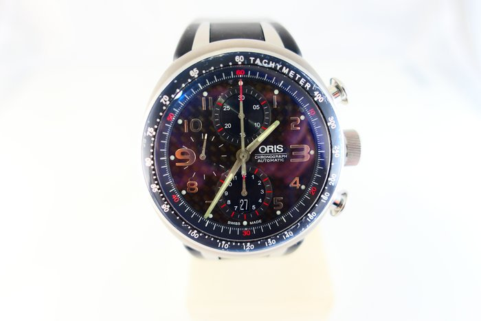 [吉宏精品交流中心]ORIS 豪利時 鈦合金 膠帶 碳纖維面 自動 計時 男錶