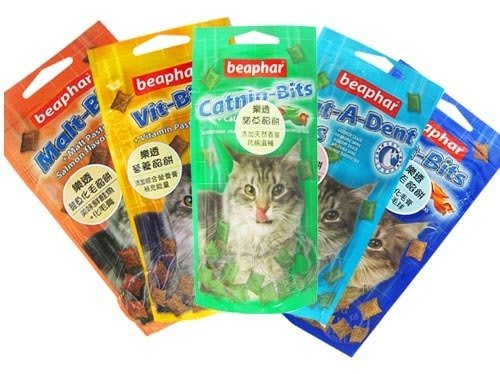 【🐱🐶培菓寵物48H出貨🐰🐹】Beaphar《樂透貓用鮮美餡餅 35g》5種口味 特價1包99元(自取不打折)