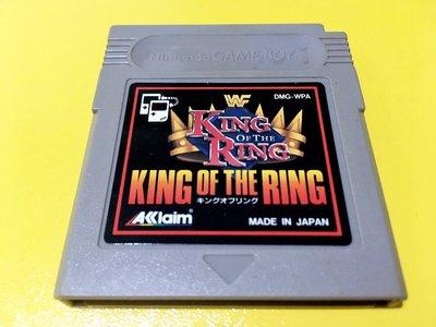 幸運小兔 GB遊戲 GB WWE 競技場之王 King of the Ring 激爆職業摔角 GameBoy 適用 D6