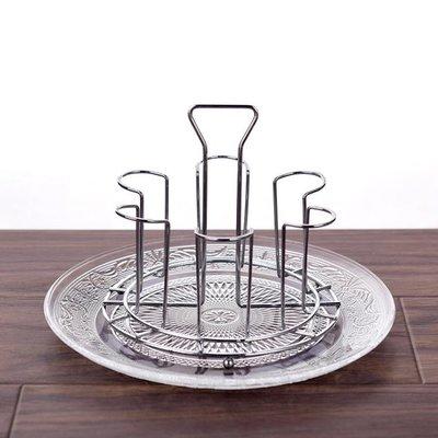 掛置物茶架水杯不銹鋼杯架玻璃瀝水盤
