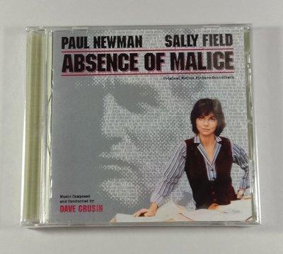 """惡意的缺席 (Absence of Malice)""- Dave Grusin,全新美版,33"