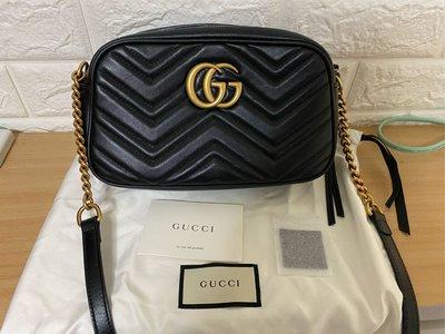 Gucci 斜背包 馬夢包 鍊條 斜背包 Gucci 相機包