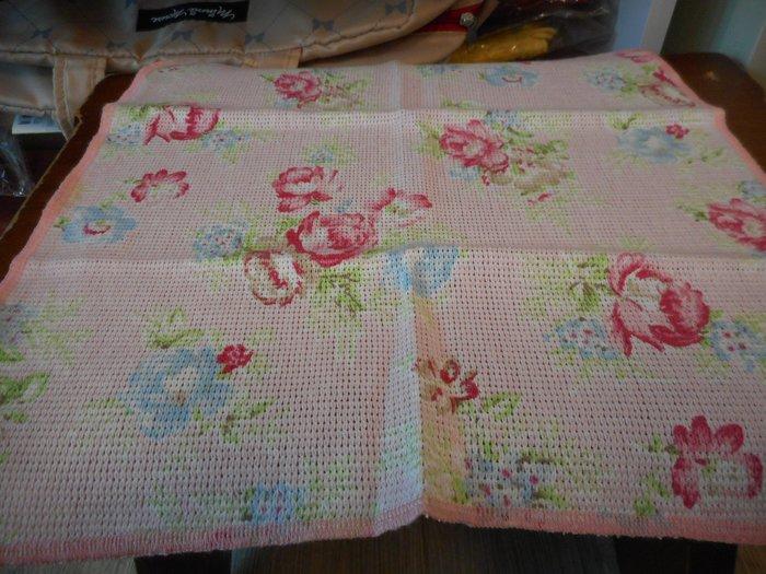 ~~凡爾賽生活精品~~全新日本進口粉底紅色玫瑰花造型純棉抹布.小方巾~日本製