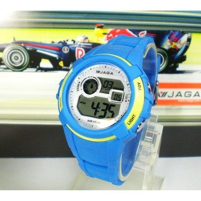 JAGA冷光電子錶 中性款 超人氣 上班族 學生錶 兒童錶 運動錶 多顏色 附保固卡【↘420】M1104