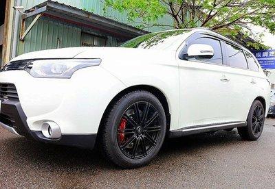 【Xiomara GT】煞車 卡鉗 活塞 三菱 OUTLANDER 355劃線打洞碟盤 街道版-中六卡鉗 陽極紅