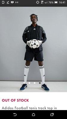 現貨在台 Adidas 黑色M號足球運動外套(cg1797)
