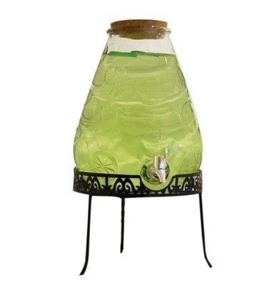果汁分配器 10L加厚帶木塞玻璃飲料桶 果汁冷飲壺 釀酒罐 果醋罐 冷水壺 啤酒罐 梅酒罐 梅森罐 果汁桶