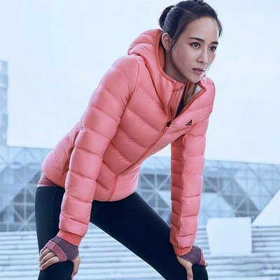 【R.T.G】ADIDAS DOWN JACKET HOODED 粉紅 休閒 保暖 連帽 羽絨外套 女款 BQ8739