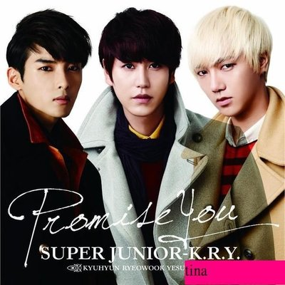 SUPER JUNIOR-K.R.Y.圭賢厲旭藝聲日版首張日文單曲Promise You CD+DVD贈照片卡MV花絮DVD全新