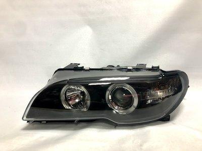 ☆雙魚座〃汽車〃BMW E46 02~06 2門 HID版有馬達款黑框光圈魚眼式大燈 E46 大燈 E46 2D