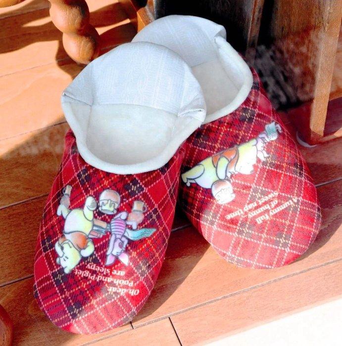Ariel's Wish預購-日本東京迪士尼蜂蜜黃小熊維尼winnie蜂蜜蜂蜜罐子小豬跳跳虎鄉村格紋風室內拖拖鞋室內鞋子