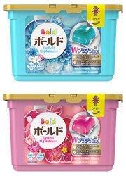 日本洗衣球 P&G ARIEL 2倍洗淨消臭(藍) 花香柔軟(紅) 洗衣膠球 18入(單買本商品不支援三千免運)