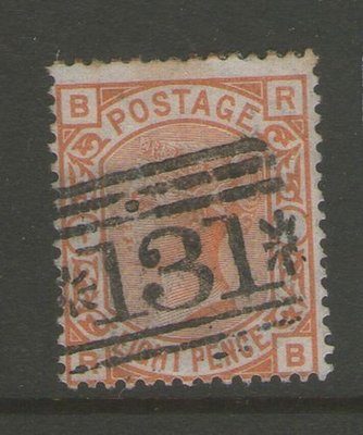 【雲品】英國GB 1876 Queen Victoria SG 156 PL1 FU