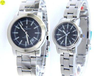 (六四三精品)一對(共二隻)范侖鐵諾(真品)瑞士氚氣燈管自體發光.水晶鏡面.不銹鋼精準對錶