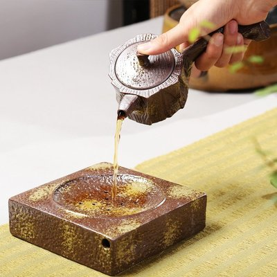 促銷品 【茶嶺古道】 枯木逢春 側把壺 仿古  樹頭茶壺 造型茶壺 柴燒可參考