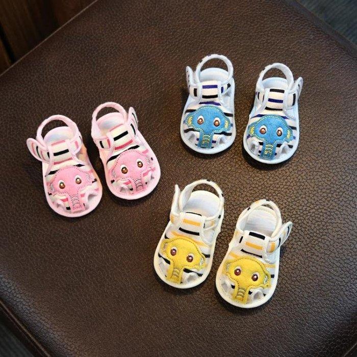 嬰兒鞋夏3-6-7-12個月寶寶軟底學步鞋男0-1歲嬰幼兒布涼鞋女夏天