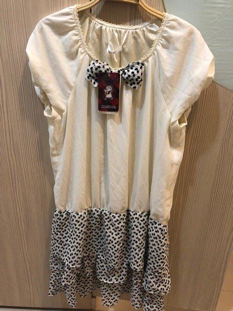 小花別針、專櫃日系品牌【ma tsu mi】蝴蝶結短袖洋裝連身裙