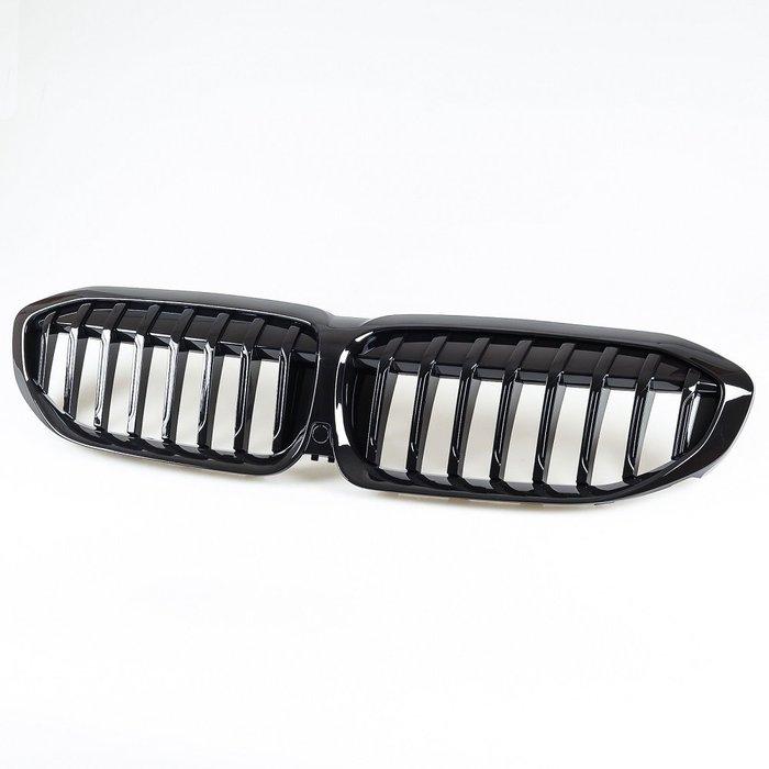 [亮黑] 水箱罩鼻頭格柵 沒有攝影孔 寶馬BMW 3系列 G20用 2019年式後適用/汽車外飾交換件