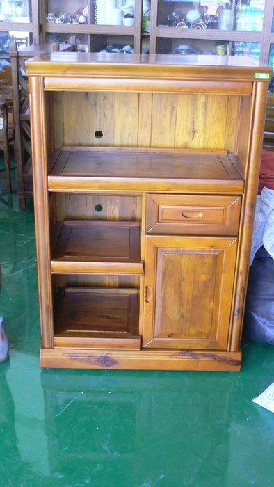 宏品二手家具館 原木傢俱大特價 ZH805*全新樟木碗盤櫥櫃*實木電器架/高低櫃/收納櫃/酒櫃/書櫃展示櫃客廳廚房傢俬