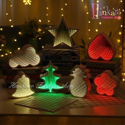 ☆[Hankaro]☆ 創意造型LED夢幻效果隧道小夜燈