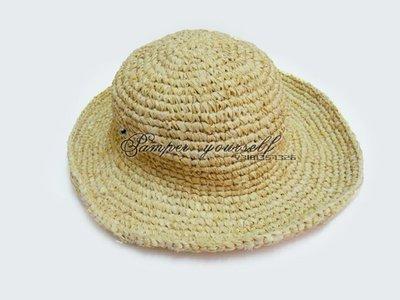 全新 100% 台灣專櫃真品 agnes b 編織帽 遮陽帽 柳條帽 竹籐帽 印度尼西亞製造