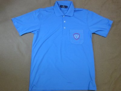 (抓抓二手服飾)  PIERRE BALMAIN  POLO衫  水藍色   L   (C350)