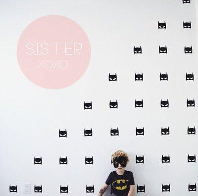 Sis 歐美 壁貼 裝飾 時尚 男孩房 嬰兒房 蝙蝠俠 造型 背景 IKEA 家飾品