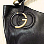 天使熊小鋪~GUCCI經典雙G logo皮革手提包 義大利製 L版貴婦愛用肩背包 原價69000