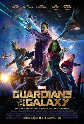 星際異攻隊 (Guardians of the Galaxy) - 美國原版雙面電影海報 (2014年上映版)