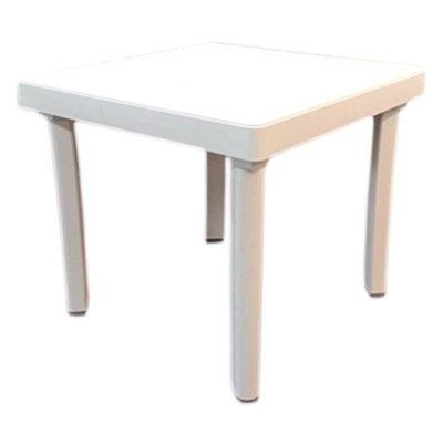 【艷陽庄】四方小茶几塑膠桌四方桌邊桌戶外桌塑膠茶几休閒桌椅 桃園市