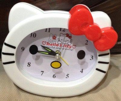*全新 Hello Kitty 時尚造型鬧鐘 立體凱蒂貓頭 床頭鬧鐘 時鐘 桌鐘