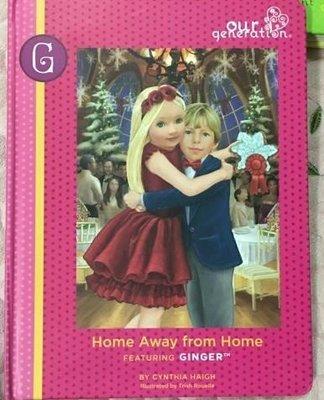 女孩閱讀故事書Home Away From Home Featuring Ginger 108頁精裝