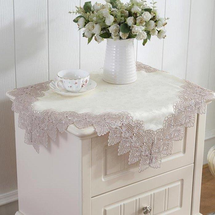 YEAHSHOP 床頭櫃蓋布歐式蕾絲家電防塵布冰Y185