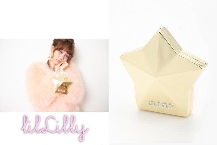 SHINY SPO 獨家代理日本品牌 lilLilly 時尚甜美金邊星星立體造型壓克力硬殼長鍊側背小包