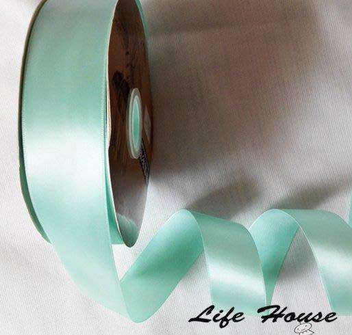 蒂芬妮藍綠色緞帶3cm緞帶 100cm 優質緞帶 包裝緞帶 禮盒緞帶 緞帶 蒂芬妮緞帶 婚禮佈置緞帶  髮飾緞帶