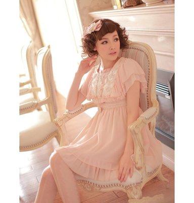 Ξ米亞alisaΨ Chiffon Dress ☆  Princess 雙層荷葉袖高腰雪紡大擺裙 洋裝 M ☆ 現貨