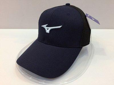 塞爾提克~ 現貨 MIZUNO 美津濃 3D立體繡標LOGO 透氣型 高爾夫 休閒 運動帽(深藍/白)直購390