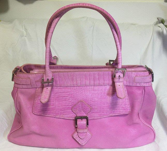 Borslini 經典精品包 名牌包 專櫃包 包包 手提包 肩背包 COACH副牌~ Borslini 嫩粉手提包