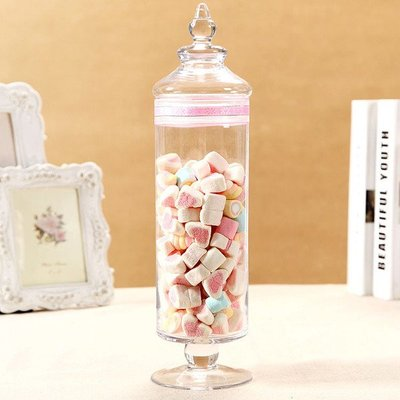 **蕾絲公主**新品推出**歐式高腳玻璃糖果罐(B款)~婚禮佈置、夢幻candy bar、主題週歲生日派對