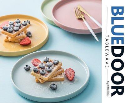 BlueD_馬卡龍 繽紛多色 盤子 圓盤 西餐盤 點心盤 甜點盤 北歐風 IG款  裝潢 新居入遷 送 網美風