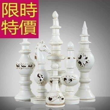 銅擺件 國際象棋-現代雕塑風水擺飾家居擺設歐洲3色61ac31[獨家進口][巴黎精品]