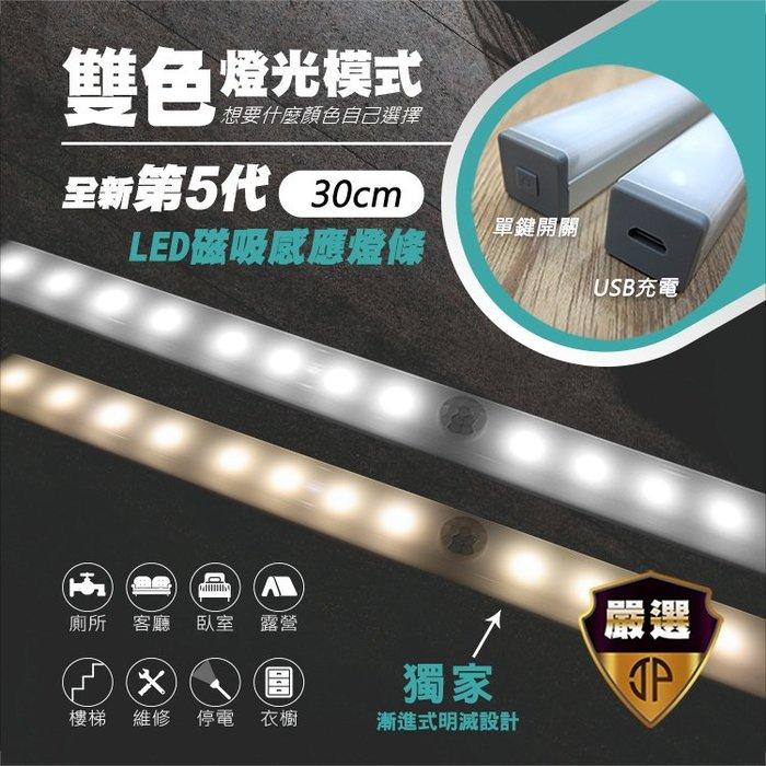 【JP嚴選】感應式LED 雙色磁吸照明燈條_30cm