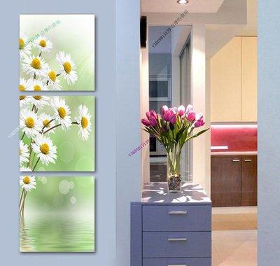 【30*30cm】【厚0.9cm】白色花-無框畫裝飾畫版畫客廳簡約家居餐廳臥室牆壁【280101_299】(1套價格)