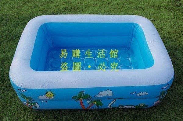 [王哥廠家直销]熱銷 寶寶玩水充氣游泳池 嬰幼兒大號戲水池 方形兒童澡盆浴盆LeGou_1098_1098