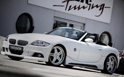 【樂駒】RIEGER BMW Z4 E85 front bumper 前保桿 外觀 空力套件 霧燈 飾蓋