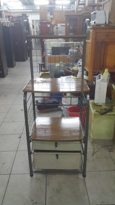 樂居二手家具 全新中古傢俱賣場 X50530HJJ 多用途電器置物架*電器架 微波爐架 收納架 鐵架 台中二手家具買賣